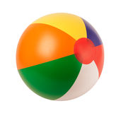 Bright inflatable ball. Isolated on white background royalty free stock photos