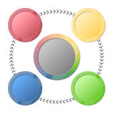 Bright info graphic. Vector colorful circle info graphic Royalty Free Stock Photo
