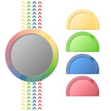 Bright info graphic. Vector colorful circle info graphic Royalty Free Stock Image
