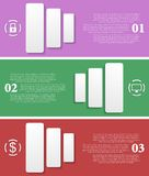 Bright infographic vector tech banners Royalty Free Stock Photography