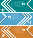 Bright infographic vector tech banners Royalty Free Stock Photo
