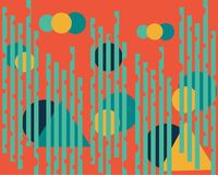 Bright, intense abstract geometric pattern a symmetrical pattern vector illustration