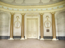 Bright interior of the ancient building royalty free stock photography