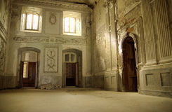 Bright interior in ancient building Stock Photography