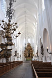 Bright interior of catholic church in scandinavia Stock Photography