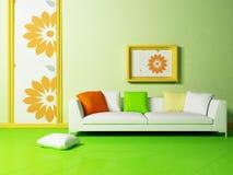 Bright interior design with a nice sofa Stock Image