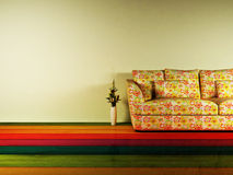 Bright interior design with a nice sofa Royalty Free Stock Photography
