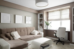Bright interior of living room Stock Photo