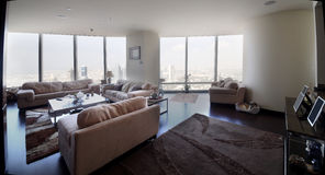 Bright interior of living room Stock Photos