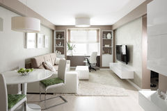 Bright interior of living room Royalty Free Stock Photo