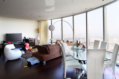 Bright interior of living room Stock Images