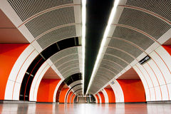 Bright interior of a metro station Stock Photo