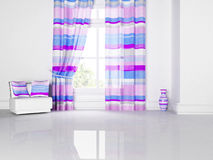 Bright interior with nice stripes Stock Images