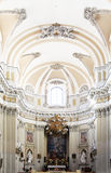 Bright interiors of a baroque church, palermo Royalty Free Stock Photo