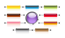 Bright Internet button stock illustration