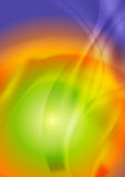 Bright iridescent abstract wavy background Royalty Free Stock Image