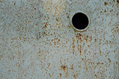 Bright iron sheet covered with rust . Stock Image
