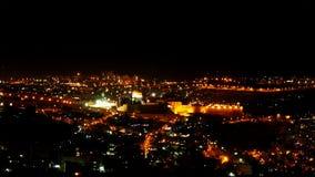 Bright Jerusalem city lights at night Royalty Free Stock Image