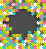Bright Jigsaw Puzzle Background Royalty Free Stock Photo