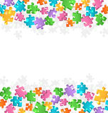 Bright Jigsaw Puzzle Background Stock Photos