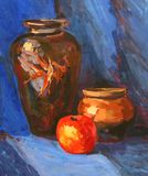 Bright juicy still-life. Drawing academic Royalty Free Stock Images