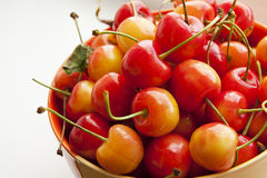 Bright juicy sweet cherries Royalty Free Stock Images