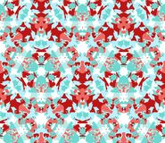 Bright kaleidoscope seamless pattern. Composed of color abstract elements located on a white background. Royalty Free Stock Photo