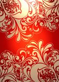 Bright Khokhloma pattern background. Royalty Free Stock Photos