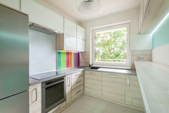 Bright kitchen with colorful decoration Stock Image