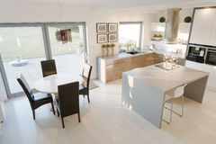 Bright kitchen and dining room Royalty Free Stock Image