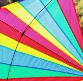 Bright Kite 3. Child's brightly coloured kite  close up Stock Photo