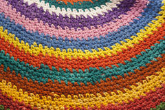 Bright knitted pattern. Bright pattern knitted multi-colored threads Royalty Free Stock Images