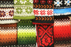 Bright knitting Stock Image