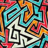 Bright labyrinth seamless pattern Stock Image