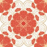 Bright lace seamless pattern. Lace hand drawn seamless pattern with circle ornament Royalty Free Stock Photography