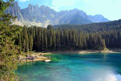 Bright lake in italian mountains Stock Image