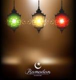 Bright lamp for ramadan festival Stock Photos