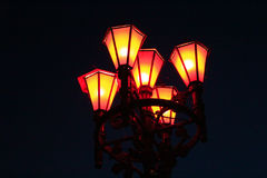 Bright lanterns in the darkness Stock Images