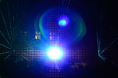 Bright laser show Royalty Free Stock Photo
