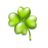 Bright leaf clover on white background. With soft shadow Royalty Free Stock Image
