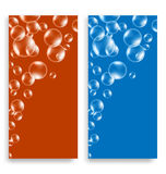 Bright leaflets with bubbles Stock Photography
