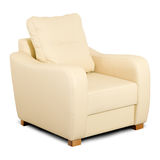 Bright leather armchair Royalty Free Stock Image