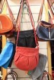 Bright leather handbags Royalty Free Stock Photos