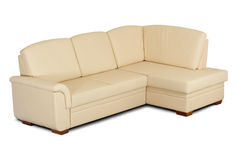 Bright leather sofa Stock Photography