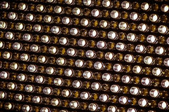 Bright LED lights. Bright LED white light pattern Royalty Free Stock Photography