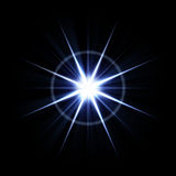 Bright Lens Flare Burst stock illustration