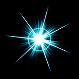Bright Lens Flare Burst. An abstract lens flare. Very bright burst - works great as a background Stock Photos