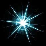 Bright Lens Flare Burst Stock Photo