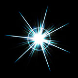 Bright Lens Flare Burst Royalty Free Stock Photo