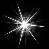 Bright Lens Flare Burst. An abstract lens flare. Very bright burst - works great as a background Royalty Free Stock Photo